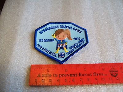 Canadian Girl Guides  Badge/Patch Brookhouse  District Camp