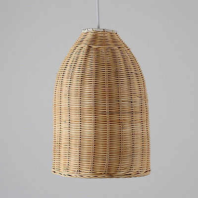 Modern Wicker Basket Ceiling Pendant Light Shade Lounge Lighting Lampshade Home