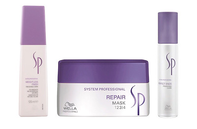 ★★Wella SP REPAIR MASK 200ml + WEIGHTLESS FINISH 125ml + PERFECT ENDS 40ml SET★★