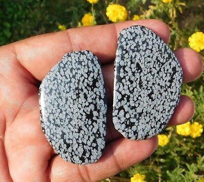 162.2 Cts Nicely 100% Natural Snowflake Obsidian Mix Lot Loose Slab Gemstone