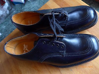"BOYS RETRO/VINTAGE ""GEO.WARD"" BENCH MADE ALL LEATHER SHOES -size 4UK"