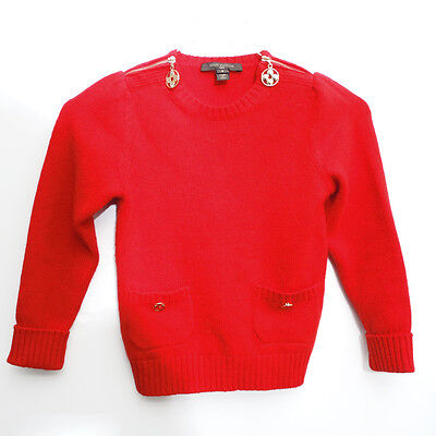 Authentic LOUIS VUITTON Red Cashmere100% Sweaters children from Japan