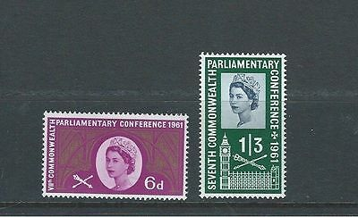 1961 Gb Qeii Commemorative - Parliamentary Conference Mnh Set
