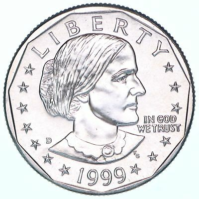 1999 D Susan B Anthony Gem BU Dollar US Mint Coin