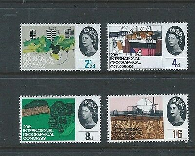 1964 Gb Qeii Commemorative - Geographical Congress Mnh Set