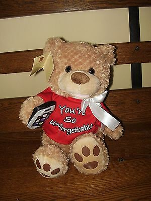 Chantilly Lane Musical Animated Bear with phone -You're So Unforgettable, nwt