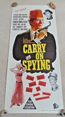 "Carry On Spying 007 Rare Original Cinema Daybill Movie Poster 1964 ! 13"" X 30"""