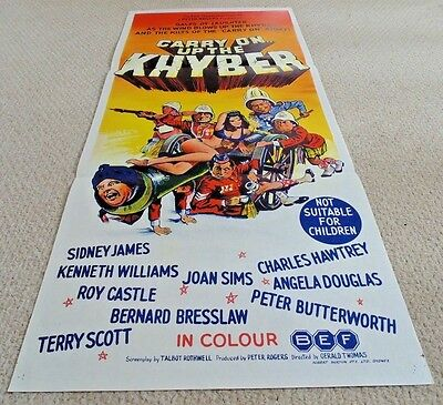 "Carry On Up The Khyber Rare Original Cinema Daybill Movie Poster 1968  13"" X 30"""