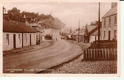 RP 1936 CARRONBRIDGE VILLAGE - street with houses, people