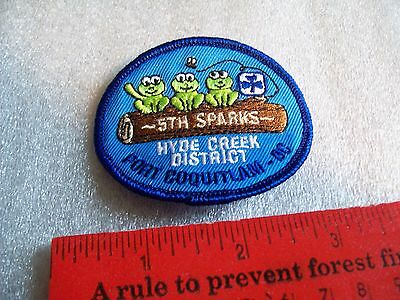 Canadian Girl Guides  Badge/Patch 5th Sparks Hyde Creek district