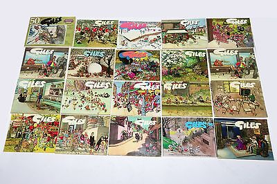Giles Cartoon Books Job Lot of 32 issues.