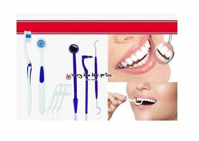 New 8 Pack Dental Care Kit Clean Tooth Brush Tongue Brush Mirror Stain Eraser
