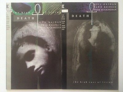 DEATH: THE HIGH COST OF LIVING #1&3, Vertigo (1993) Neil Gaiman 1st Ptg