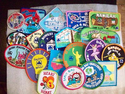 Canadian Girl Guides  Badge/Patch 20 assorted Badges listing d