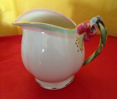 Vintage ROYAL WINTON GRIMWADES Creamer Adorned w/ a Tiger Lily Numbered 1930s