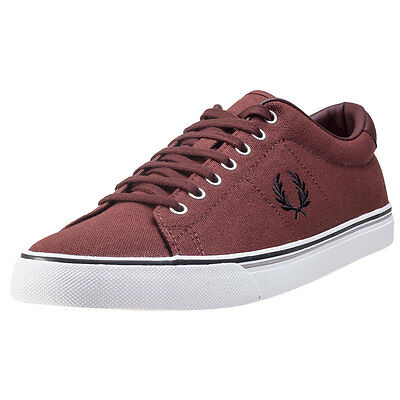 Fred Perry Underspin Mens Trainers Burnt Henna New Shoes