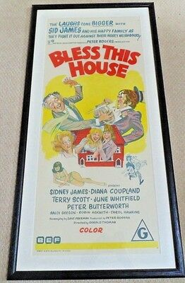 BLESS THIS HOUSE ORIGINAL CINEMA DAYBILL MOVIE POSTER 1972 Sidney James