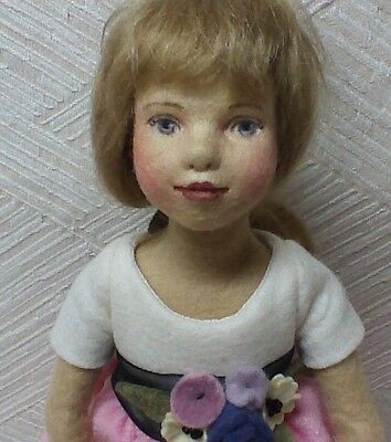 """""""Marla"""" by Maggie Iacono IDEX 2010 Event Doll Felt over Porcelain LE Signed 11"""""""