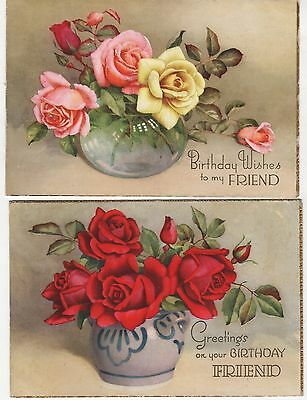 2 Birthday Cards To Pte. T Parkin  Provost Staff  H.q.company, Manningham Lane,