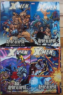 X-Men The Complete Age of Apocalypse Epic 1-4 #1 #2 #3 #4 Graphic novel TPB Lot