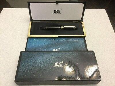 Montblanc 149 Black Resin Fountain Pen, 14C gold F Nib