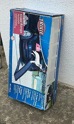 Trixie Car Pet Ramp Assist Dog Cat Portable Anti Slip Travel Safety Step Folding