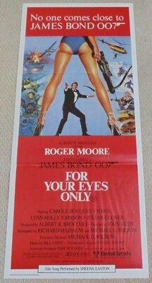 FOR YOUR EYES ONLY BOND 007 ORIGINAL CINEMA DAYBILL POSTER 1981 Roger Moore