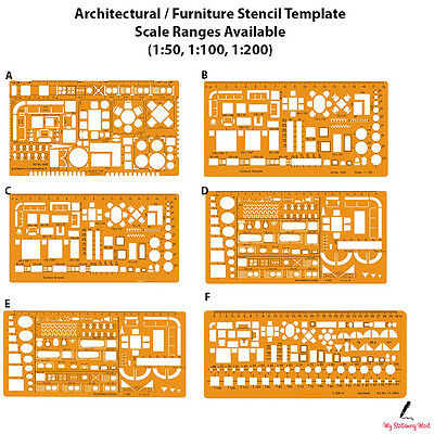Architectural Template Stencil Drawing Drafting Architecture Technical Scale