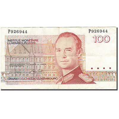 [#266377] Luxembourg, 100 Francs, 1985-1993, Undated (1986), KM:58b, EF(40-45)