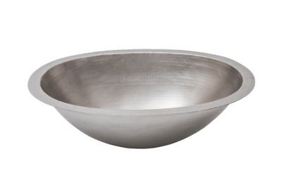 """Premier Copper Products LO19FEN 19"""" Oval Under Counter Hammered Copper Bathroom"""