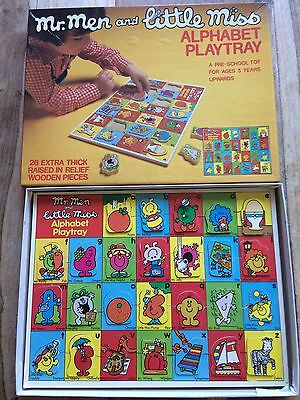 Mr Men And Little Miss Alphabet Playtray 70s 80s