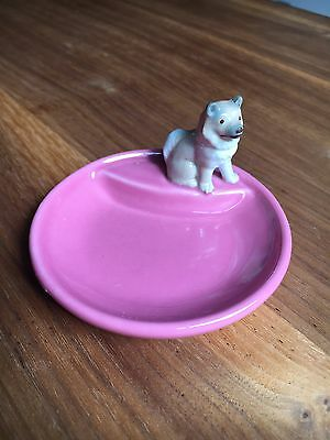 Wade Whimtray Pink Dog Puppy Vintage Retro