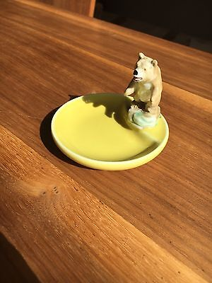 Wade Whimtray Yellow With Large Bear Vintage Retro