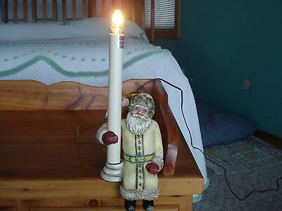 Vintage Plug-In Santa Shelf Lamp By Cresswell Collectables - On/ Off Switch