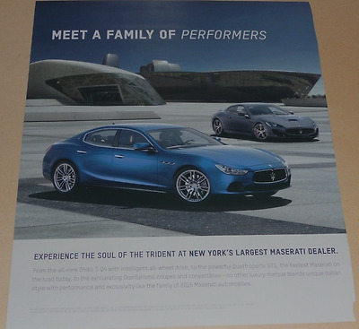 Maserati Sports Car Advertisement - Meet A Family Of Performers 2015