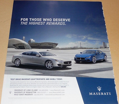 Maserati Sports Car Advertisement - For Those Who Deserve 2015