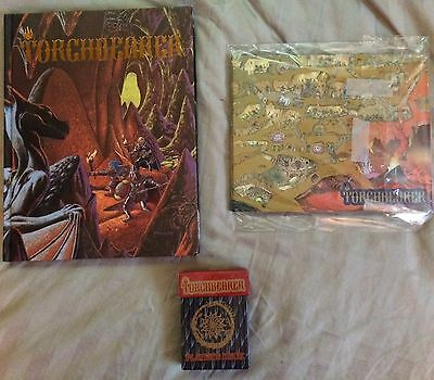 Torchbearer Role playing Lot: Manual, Game screen, Card Deck, AD&D, RPG