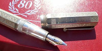 Montegrappa 80th sterling fountain pen 1992 with sterling case