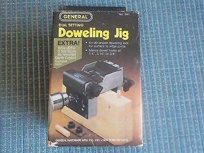 Vintage 1980's General #841 Dial Setting Doweling Jig-With EXTRA  in BOX