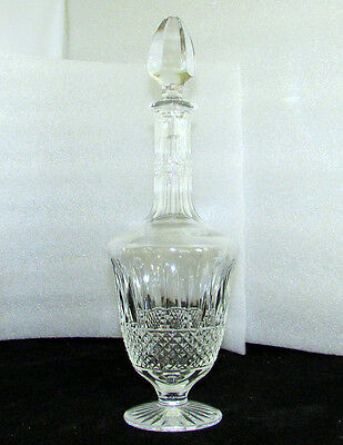 """St Louis Crystal Tommy Tall Footed Decanter 15"""""""