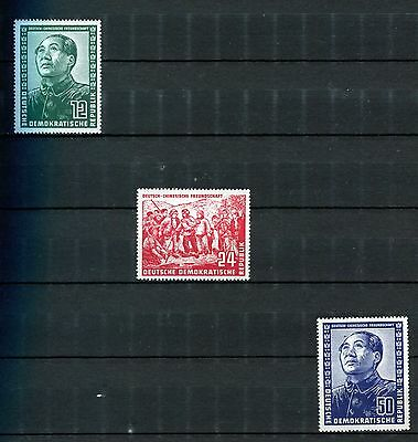 Germany Ddr 1951 ***** 3 Mnh Stamps