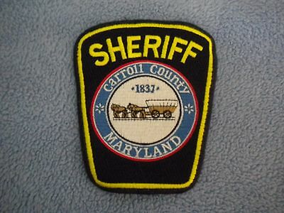 Carroll County MD Sheriff's Office police patch