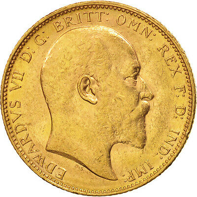 [#450859] Great Britain, Edward VII, Sovereign, 1903, AU(55-58), Gold, KM:805