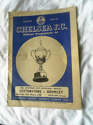 1949 Fa Amateur Cup Semi Final Replay Leytonstone V Bromley @ Chelsea