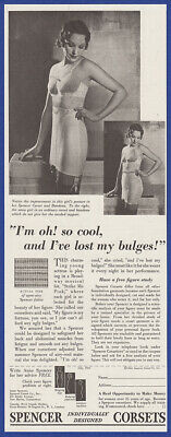 Vintage 1933 SPENCER Corsets Women's Lingerie Fashion Print Ad 30's