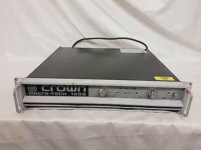 Crown Macro Tech 1200 Amplifier