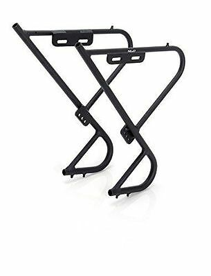 Low Rider Front Pannier Bag Rack Black Alloy Bike Front Fork Fitting Luggage