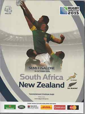 2015-South Africa V New Zealand-Nz-World Cup Semi Final-Rugby Union Programme