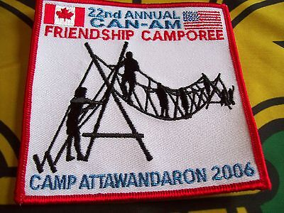 Canadian Scout badge/patch 22nd Annual CAN-AM Friendship Camporee