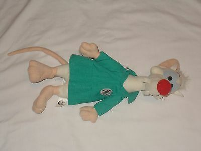 "Vintage 1997 Warner Bros Animaniacs 13"" Pinky And The Brain Acme Lab Plush WB"